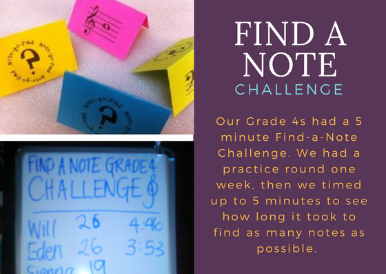Find a Note Challenge